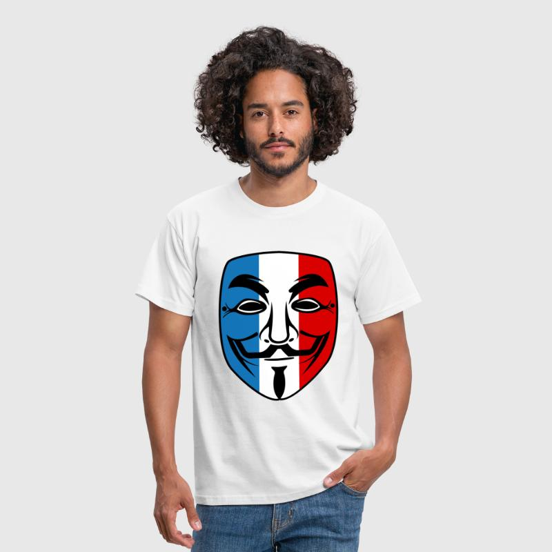 france anonymous mask - T-shirt Homme