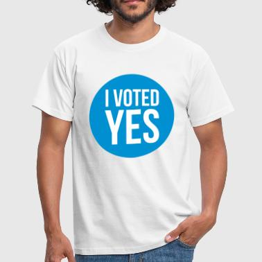 i voted yes - T-skjorte for menn