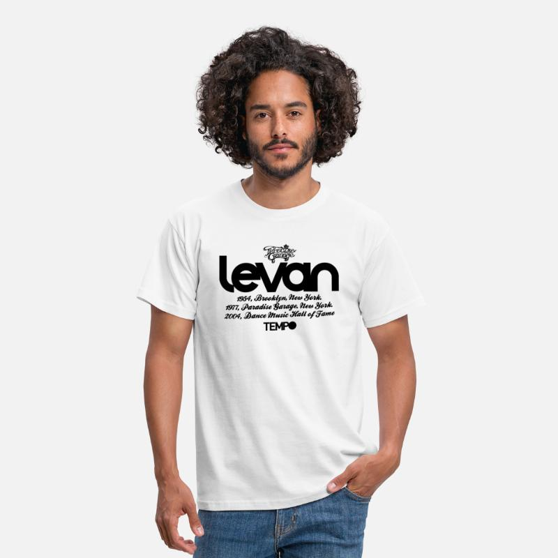 Larry Levan Paradise Garage House Music Legend Tempo T-shirts - Levan Paradise Garage in Black - T-shirt Homme blanc