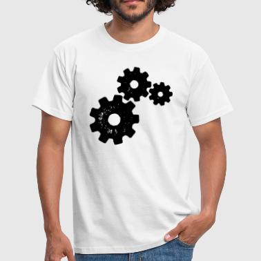 Gears Stencil - Men's T-Shirt
