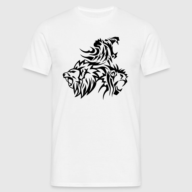 lion tribal tatouage dessin 14031 - T-shirt Homme
