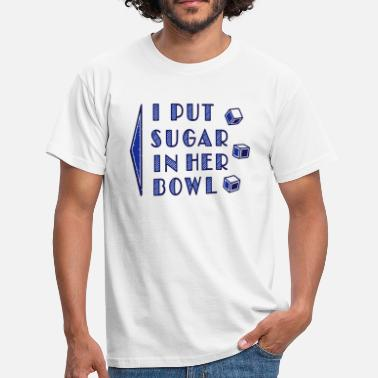 Lot sugar in bowl - for men - Mannen T-shirt