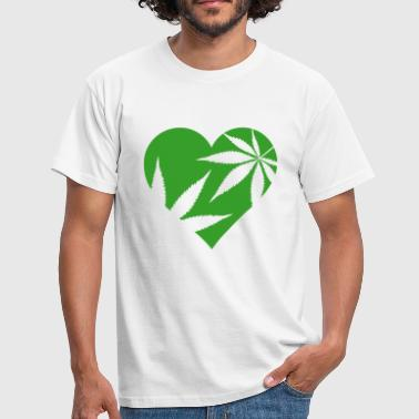 Cannabis-heart cannabis love - Men's T-Shirt