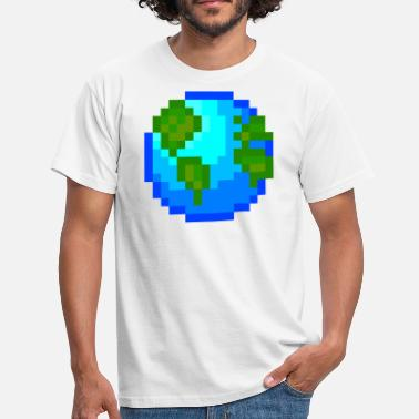 Pixel Pixelart Idea de regalo de World Planet Nature Pixel Pixelart - Camiseta hombre