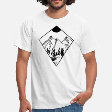 Wildnis Mountain - Männer T-Shirt