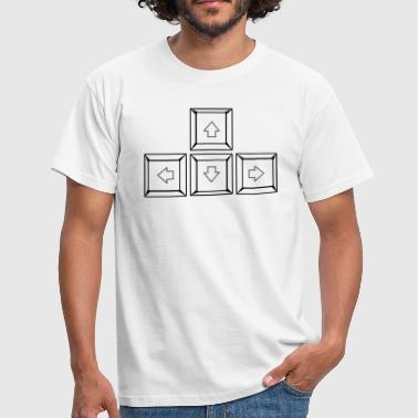 Up Down Left Right Keyboard Buttons (Keys) - Men's T-Shirt