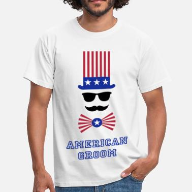 Stagette Party American Groom (Stag Party) - Men's T-Shirt