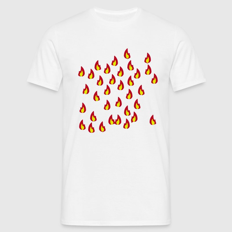 Fire - Flame - Hot - Burn - T-shirt herr