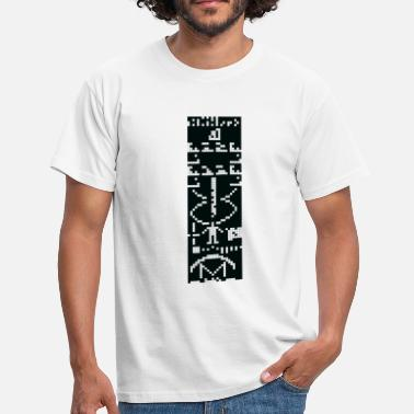 Arecibo Arecibo Message - signal from earth to space black - Männer T-Shirt