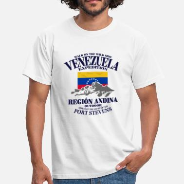 Venezuela Venezuela - Flag & Mountains - Camiseta hombre