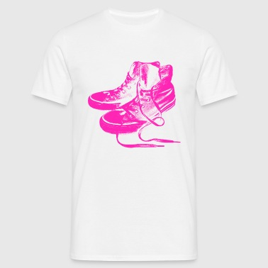 Hot Pink Sneakers - Männer T-Shirt