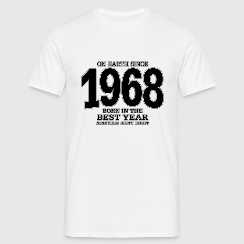 On Earth since 1968 (black) - Mannen T-shirt