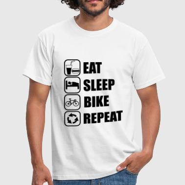 eat,sleep,bike,repeat Cycling - Men's T-Shirt