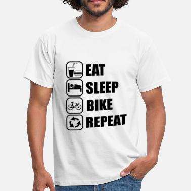 Eat Sleep Cycle Repeat eat,sleep,bike,repeat Cycling - Men's T-Shirt