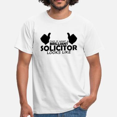 Solicitor brilliant solicitor - Men's T-Shirt