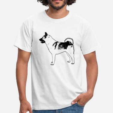Gråhund Norwegian Elkhound - T-shirt herr