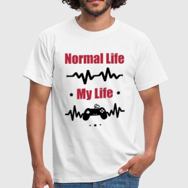 My Normal Life Gaming, Geek, Nerd - Männer T-Shirt