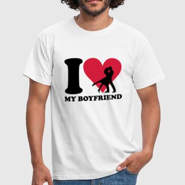I love my Boyfriend - T-skjorte for menn