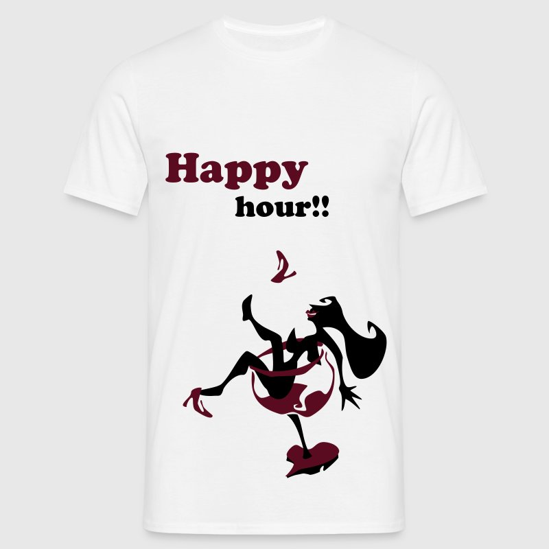 Wine Glass - Sexy Woman Silhouette - Men's T-Shirt