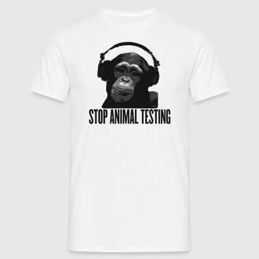 DJ MONKEY stop animal testing by wam - Camiseta hombre