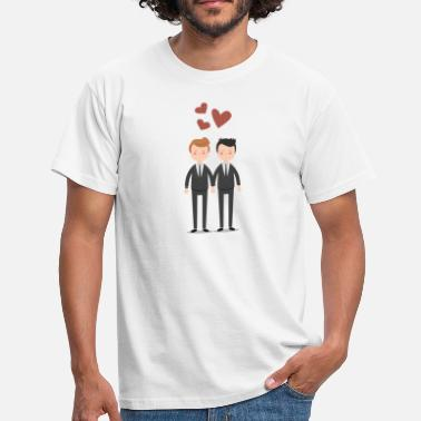 Stag Gay Couple Love Gay couples - Men's T-Shirt