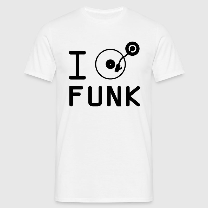 I play funk / I love radio / vinyl DJ - Men's T-Shirt