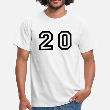 Number-20-twenty number - 20 - twenty - Men's T-Shirt