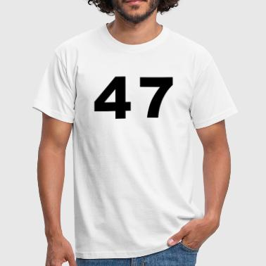 Number - 47 – Forty Seven - Men's T-Shirt