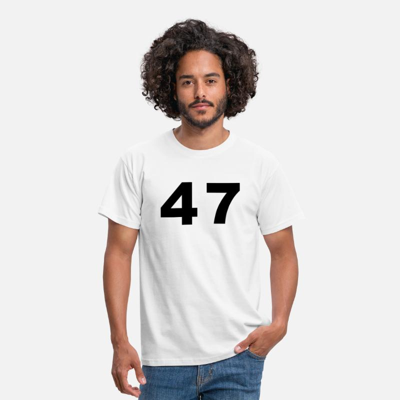 Football T-Shirts - Number - 47 – Forty Seven - Men's T-Shirt white