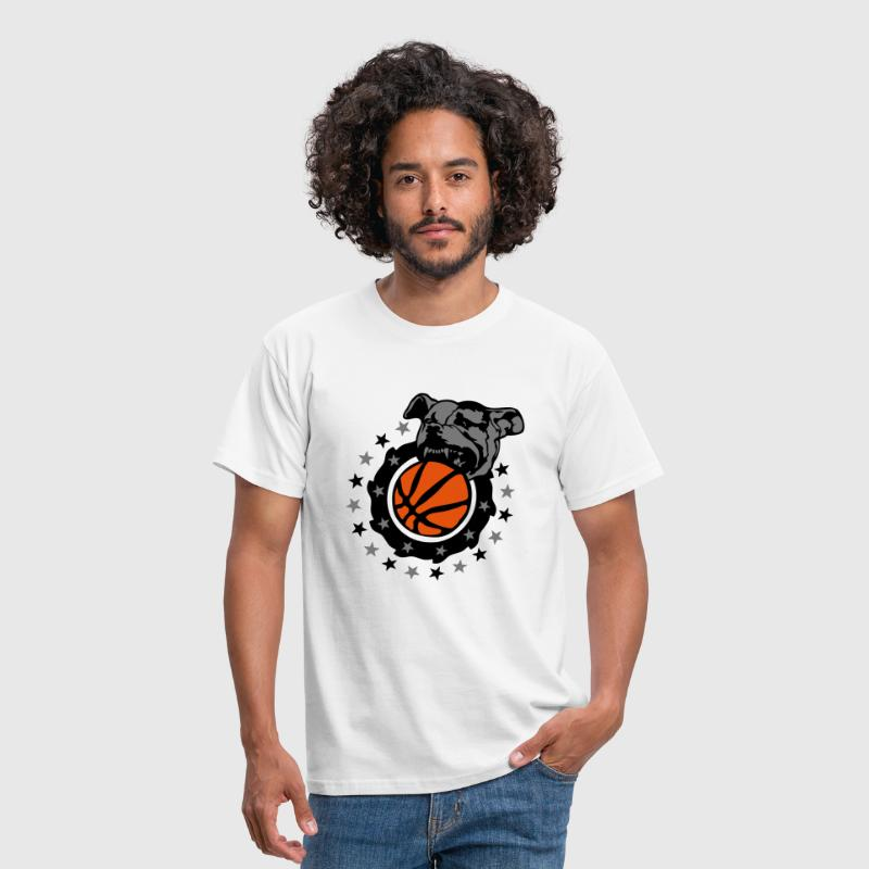 basketball chien pitbull dog logo club - Men's T-Shirt