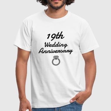 Wedding Marriage 19 - Birthday Wedding - Marriage - Love - Mannen T-shirt