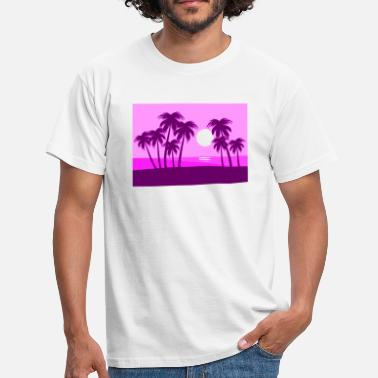 panorama, palm, beach, holiday, paradise, sun - Men's T-Shirt