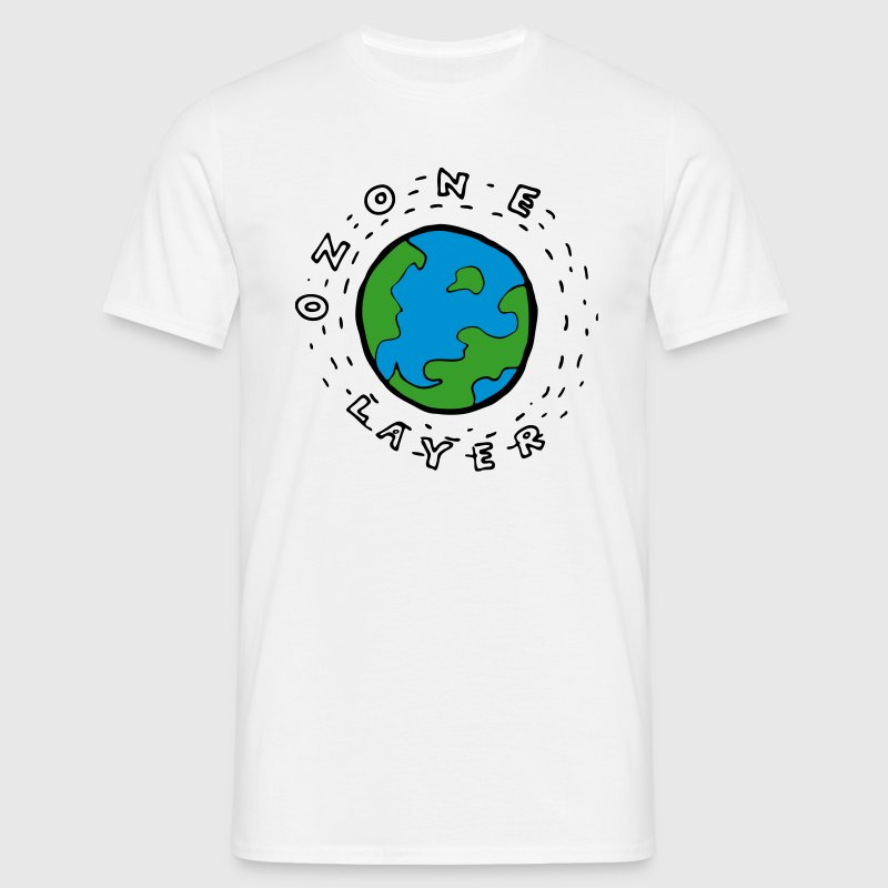 Earth's Ozone Layer Drawing - Men's T-Shirt