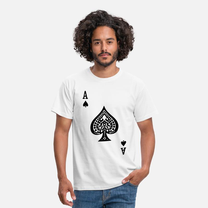Ace Of Spades T-Shirts - Ace of Spades by Casual Pirate - Men's T-Shirt white