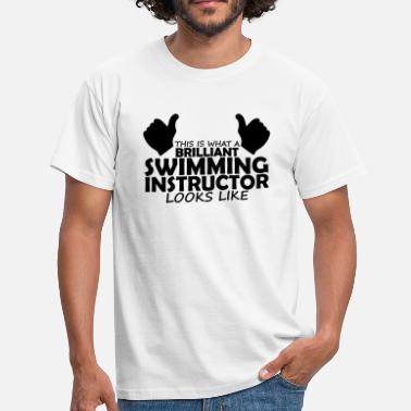 Swimming Teacher brilliant swimming instructor - Men's T-Shirt