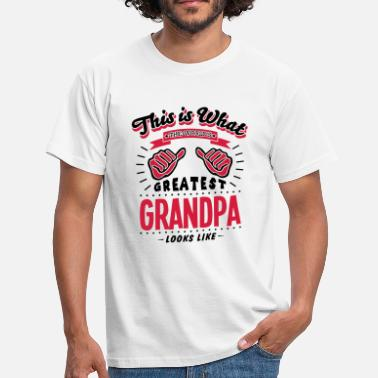 Worlds Greatest Grandpa Looks Like grandpa worlds greatest looks like - Men's T-Shirt