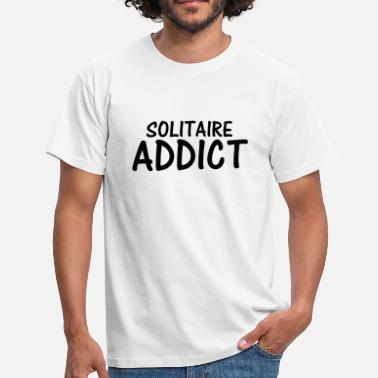 Solitaire solitaire addict - Men's T-Shirt