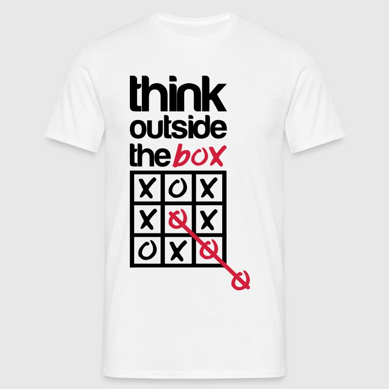 Think outside the box - T-shirt herr