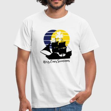 Seaman Yacht Heart of a Seaman - Men's T-Shirt