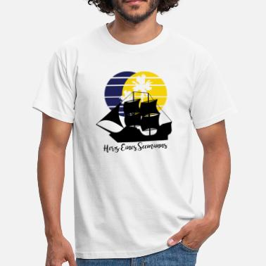 Seaman Anchor Heart of a Seaman - Men's T-Shirt