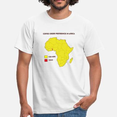 Pun Coffee order preference in Africa - Men's T-Shirt