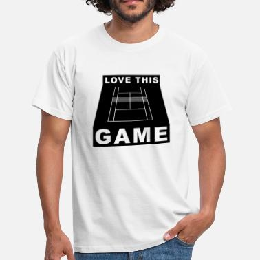I Love This Game Tennis Love This Game Tennis Gift - Maglietta da uomo