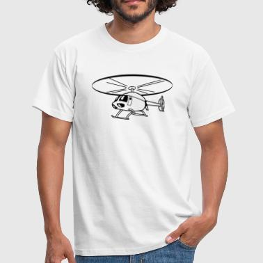 Flying Helicopter Helicopter - Men's T-Shirt