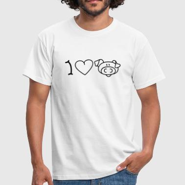 I love pigs - T-shirt Homme