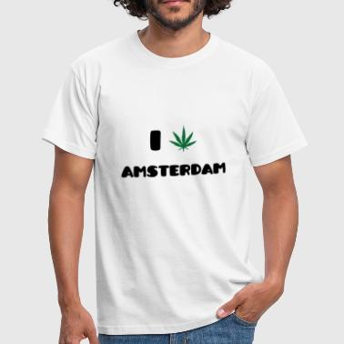 I Love Amsterdam :) T-shirts - T-shirt Homme
