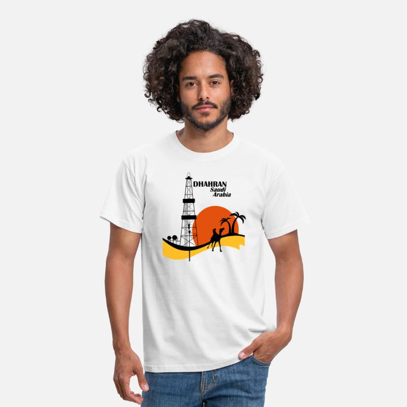 Oil Rig T-Shirts - Oil Rig Saudi Arabia Middle East - Men's T-Shirt white