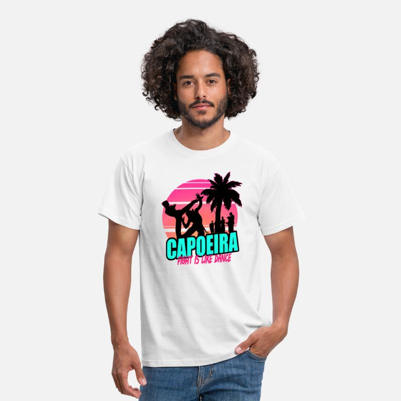 80s Camisetas - Capoeira 80's (for white) - Camiseta hombre blanco