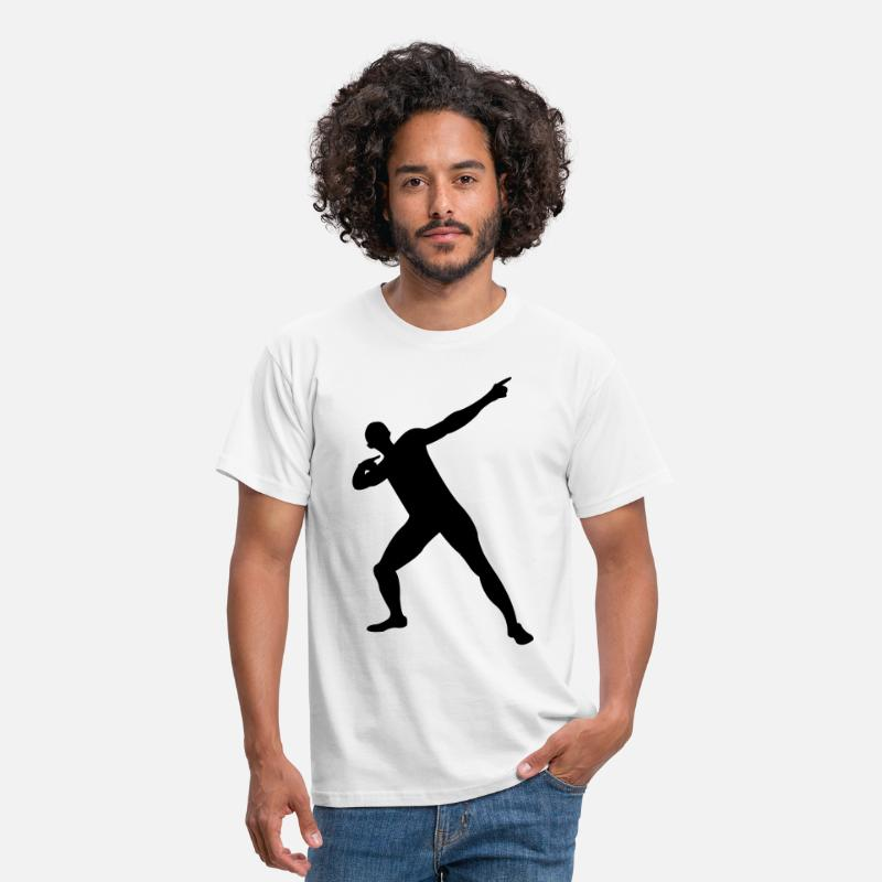 Bolt T-Shirts - Usain Bolt victory pose - Men's T-Shirt white