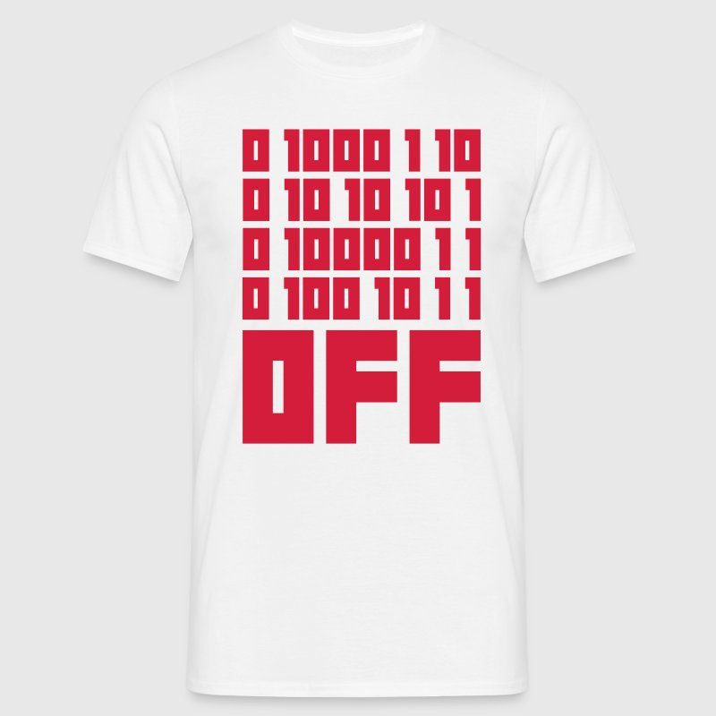 Fuck OFF - Binary Code - T-shirt Homme