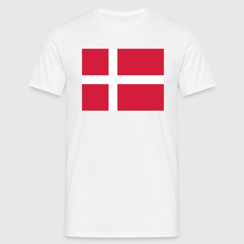 Nationale flag Danmark - Herre-T-shirt
